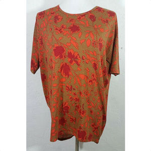 LuLaRoe XS Top Simply Comfortable Floral Leaves